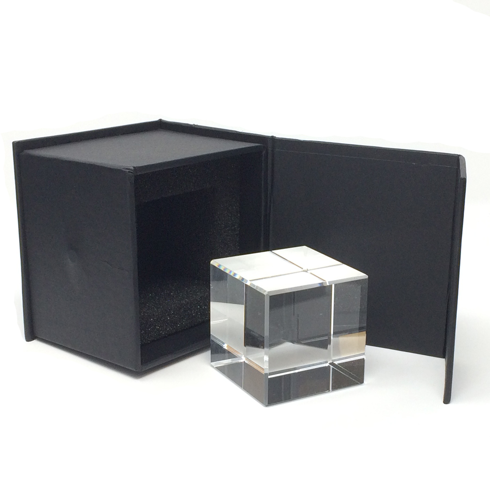 Press-papier cube en verre en plusieurs dimensions pour gravure