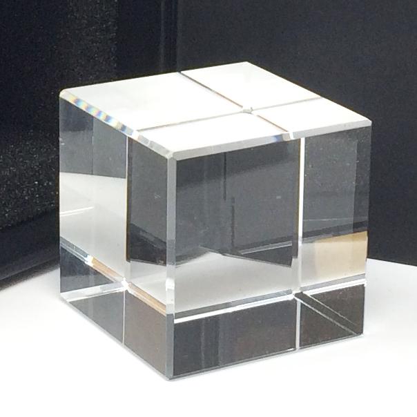 Gravez en 3d dans un cube votre logo ou votre slogan d'entreprise