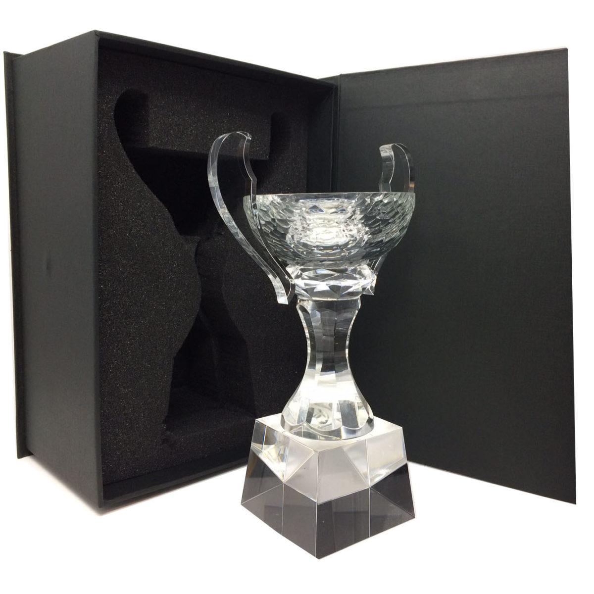 Trophée : Coupe en verre sur son socle