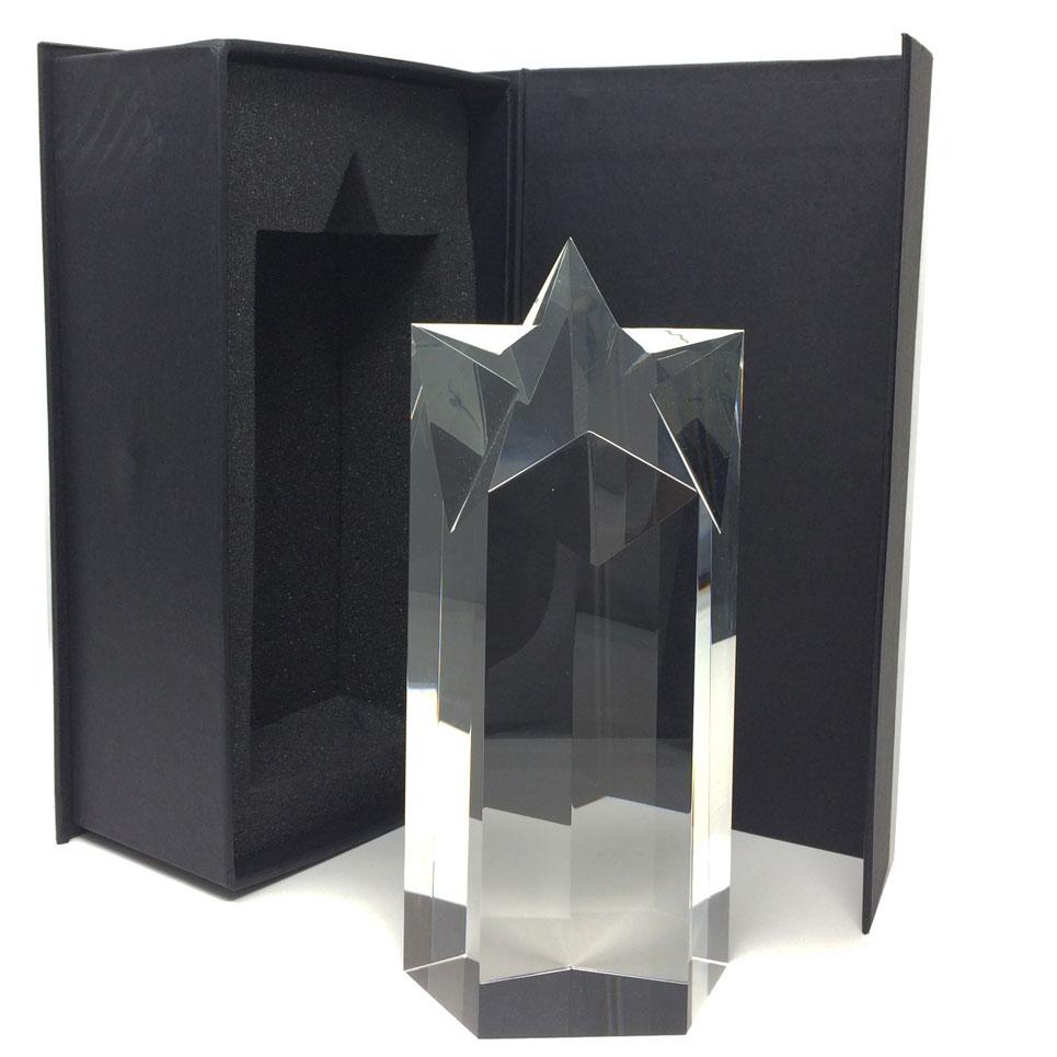 colonne en verre avec étoile