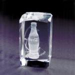 bloc de verre gravé coca cola