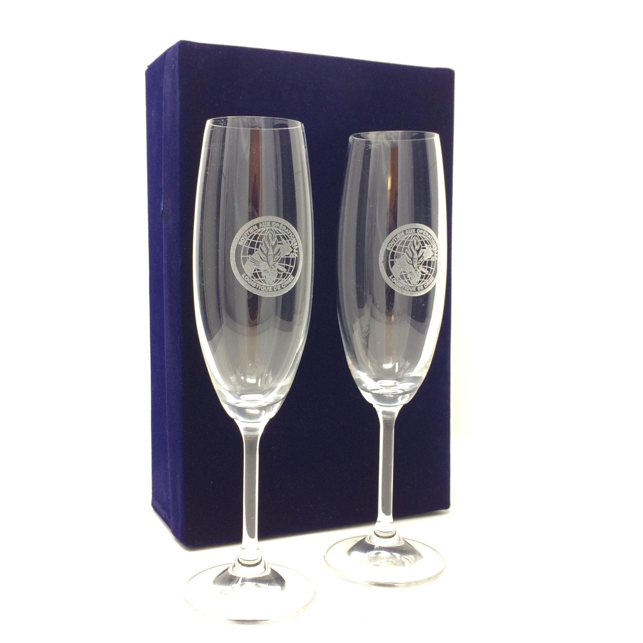 coupe de champagne + coffret