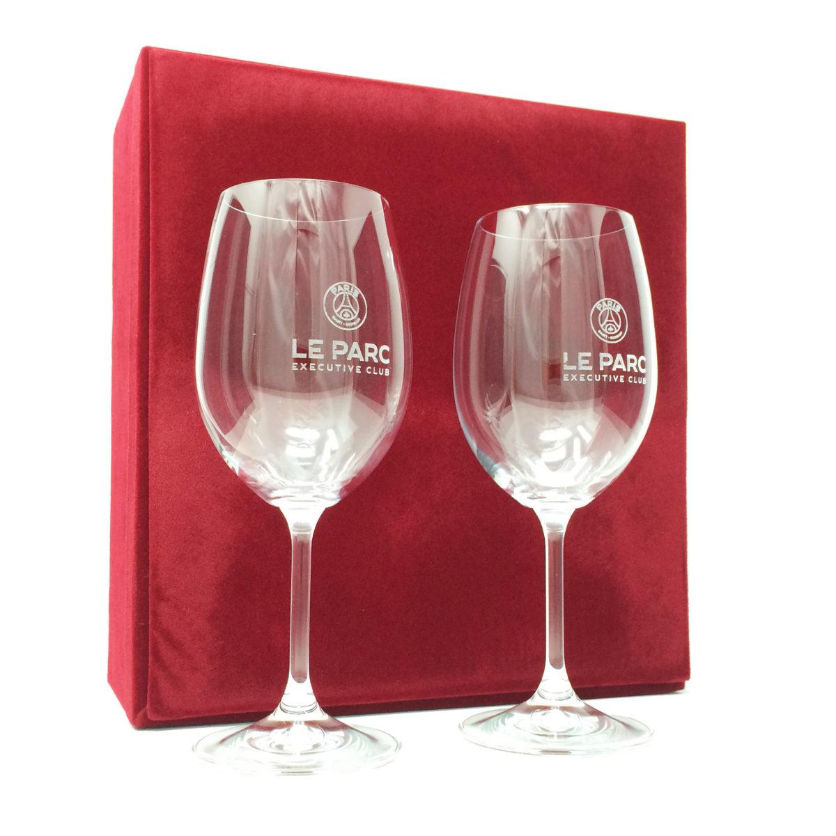 verre à vin avec coffret pour personnalisation