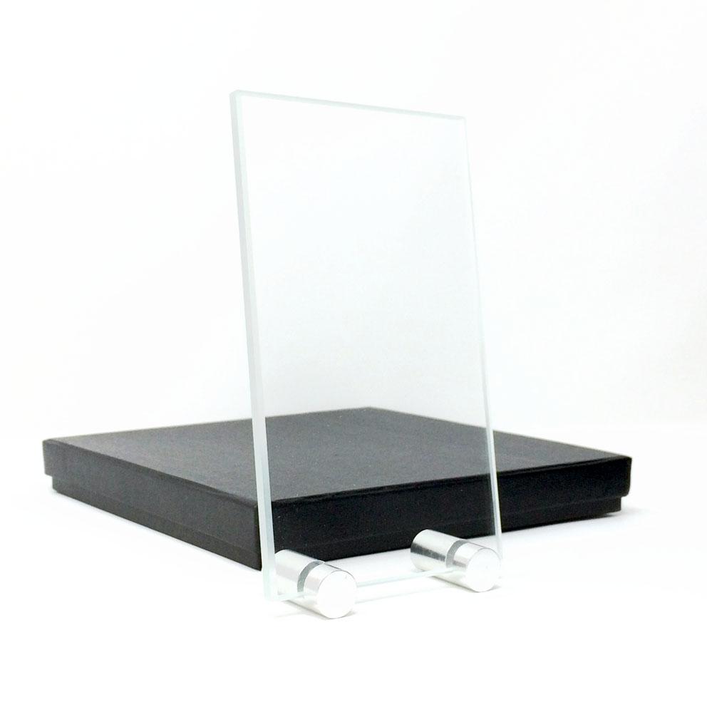 plaque en verre verticale