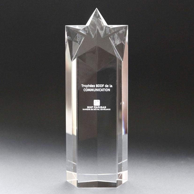 Grand trophée étoile en plusieurs dimensions