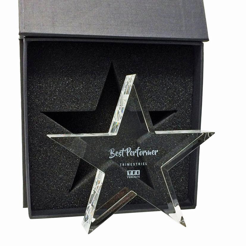 Trophée en forme d'étoile, plusieurs dimensions disponible