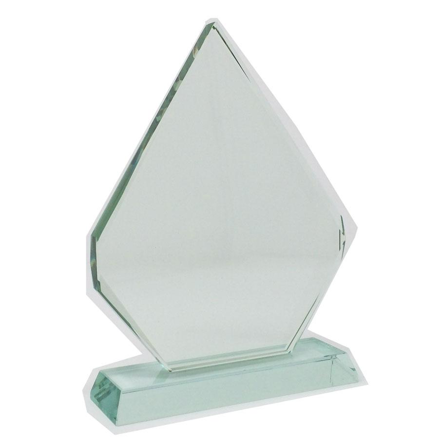 trophée en verre de jade personnalisable