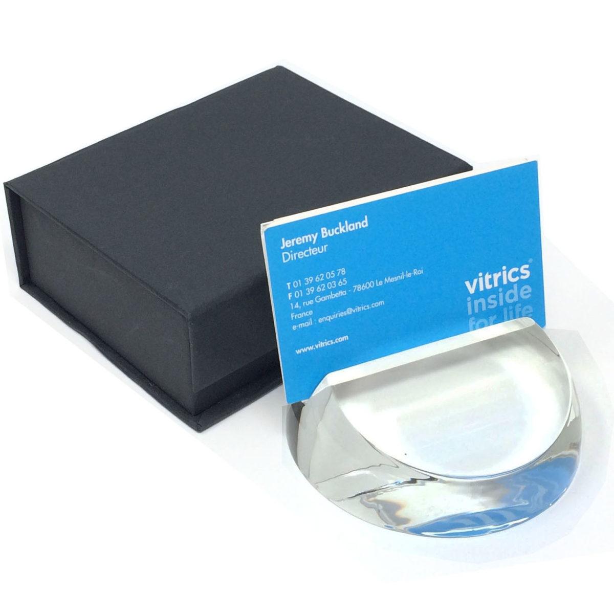 porte carte en verre personnalisable avec gravure ou couleur